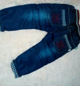 Утепленные джинсы на мальчика,новые