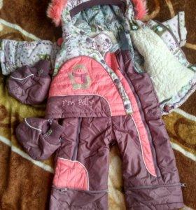 Зимний комбинезон трансформер для девочки