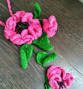 Колье вязаное
