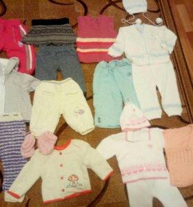 Пакет одежды на девочку 62-74