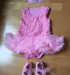 Платье - боди р.74-80