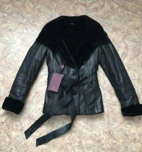 Куртка нат кожа мех мутон