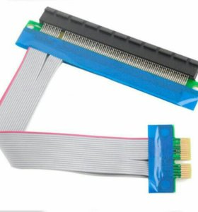 Райзер PCI-E 1х-16х с доп.питанием