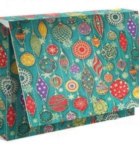 """Подарочная коробка для одежды """"Новогодний гобелен"""""""