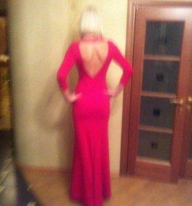 Платье вечернее женское красное