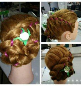Прически из плетение кос
