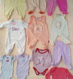 Вещи на новорожденную, р. 50, 56