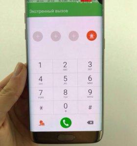 Дисплей Samsung S7 edge золотой с пятном