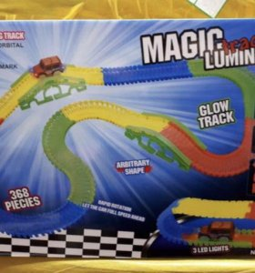 Magic track 368 деталей +2 машинки