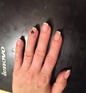 наращивание ногтей
