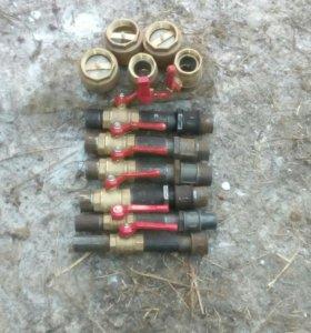 Краны ф25,32,40 клапана обратного удара ф 50