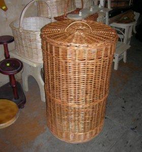 Плетеные бельевые корзины(натуральная лоза)
