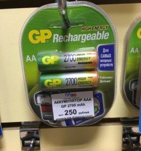 Аккумуляторы GP 2700 размер АА.