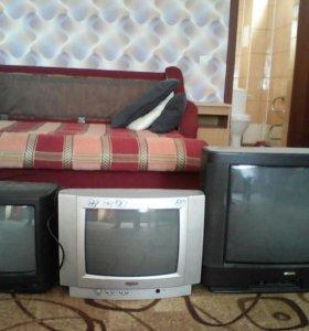Телевизоры разных марок без пульта все в рабочем с