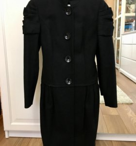 Осеннее шерстяное пальто (р.40-42)