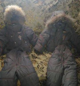 зимние куртки с комбинезонами