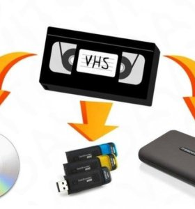 Оцифровка монтаж видеокассет VHS VHS-C MiniDV Hi8