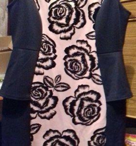 Платье новое. Рисунок 3D бархат 48 50