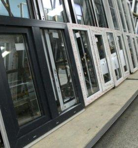 Серые окна 900(Ш)*840(В)