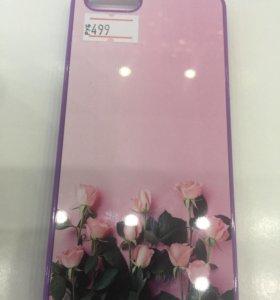 Чехол iPhone 5/5S/SE розы розовые