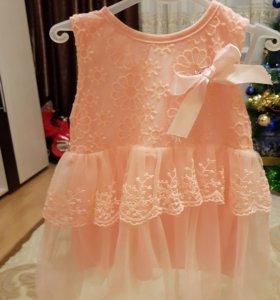 Платье для малышки 6 - 9 мес