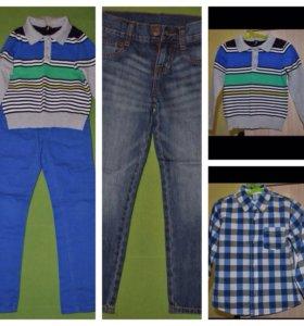 Одежда( джинсы, штанишки, рубашка и свитер)