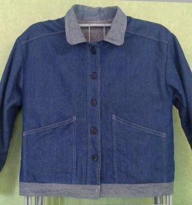 Джинсовая куртка с мехом всесезонная