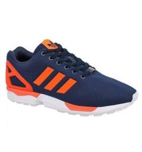 Adidas ZX Flux сине-оранжевые мужские