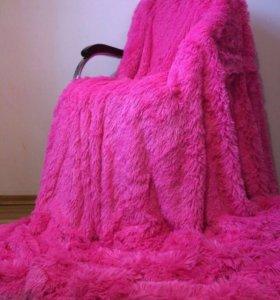 Плед меховой розовый фуксия