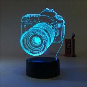 3d ночник камера