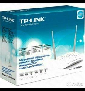 Новый Адсл модем TP-Link TD-W8961N(RU)