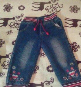 Зимние джинсы с начесом для девочки