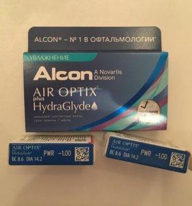 Контактные линзы -1 Air Optix HydraGlyde