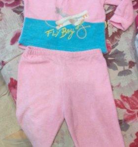 Детский трикотажный костюмчик