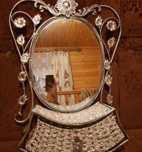Зеркало с ящиком!Новое!