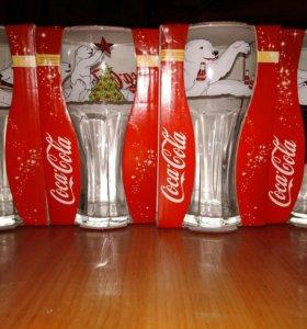 Новогодние бокалы coca cola