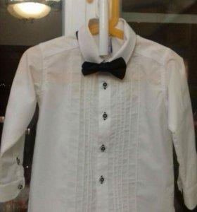 Рубашка белая с бабочкой 98 для мальчика