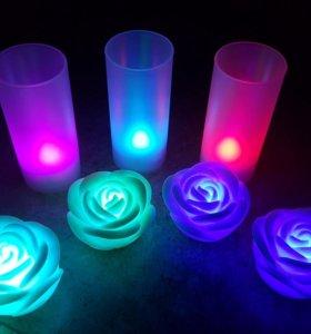 Светящиеся романтичные светильники