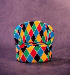 Детское кресло-игрушка мягкое «Ромбики»