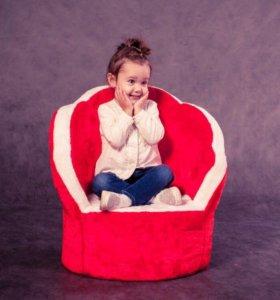 Кресло «Цветочек» детское мягкое