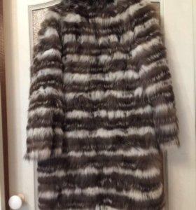 Пальто, шуба из чернобурки
