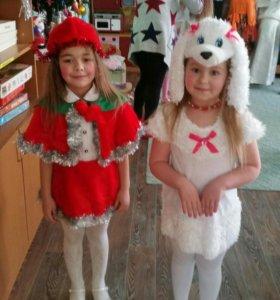 Новогодний костюм собачки для девочки