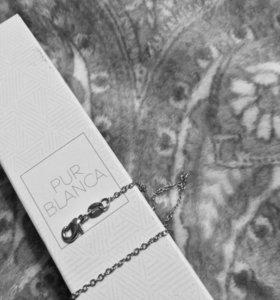 серебряная женская цепочка