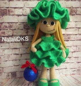 Куколка в костюме Елочки. Рост 35 см