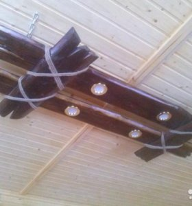 Люстра из дерева в баню, на дачу, в деревянный дом