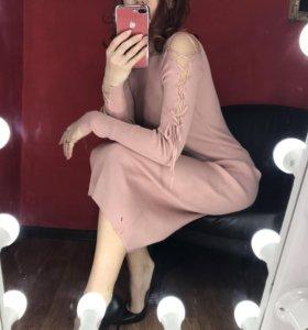 Платье лапша с вязочками