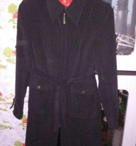 Пальто микровельвет