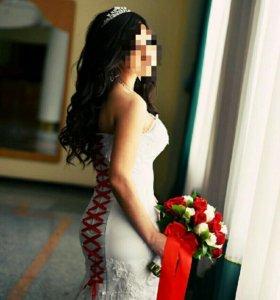 Свадебное платье+ шубка