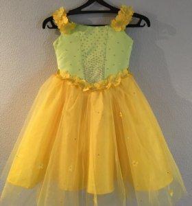 Нарядное платье на девочку 7-8лет