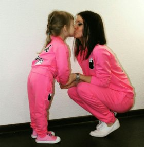 Спортивный костюм мама - дочка
